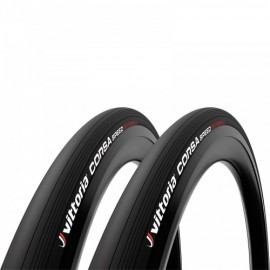Vittoria Corsa Speed 25-622 TLR Full Black G2.0 Twin Pack