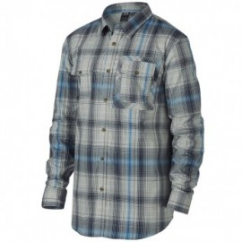 Oakley O-Plaid Woven Shirts pacific blue