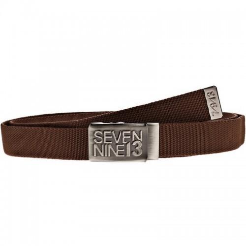 Sevennine13 Jaws Stretch Belt brown