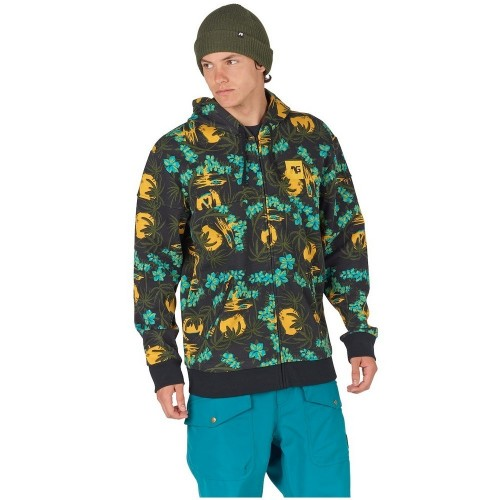 Analog Kincaid Bonded Fleece Full-Zip psychadelic hawaii