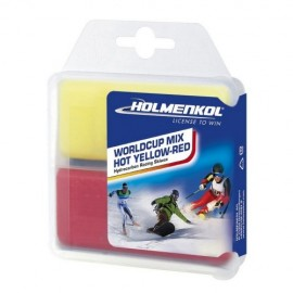 Holmenkol World Cup Mix HOT yellow/red 2x35g